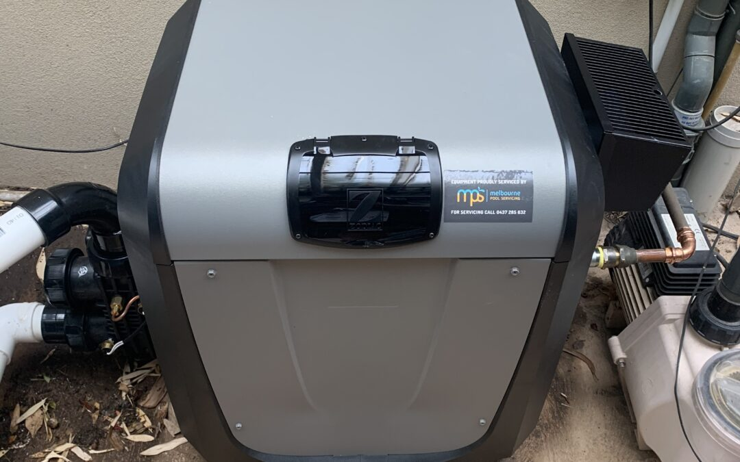 Zodiac JXI200 gas pool heater installation, replacing an old HiNRG250 which was leaking.